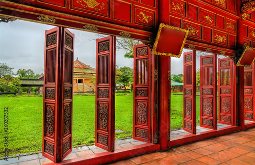 Pavilion at the Forbidden City in Hue, Vietnam Fototapet
