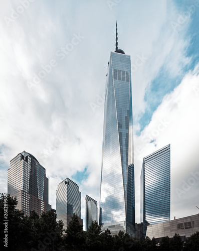 Nowoczesna linia horyzontu na Manhattanie