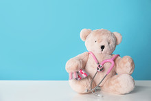 Toy Bear With Stethoscope And ...