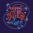 Happy Father's Day, hand lettering typography modern poster design