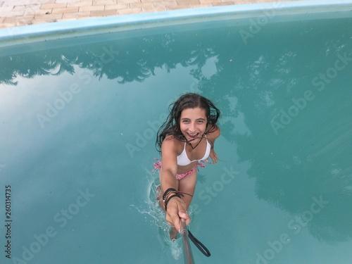 Fotografie, Obraz  Girl woman water sea beach pool/ Garota mulher agua mar praia piscina