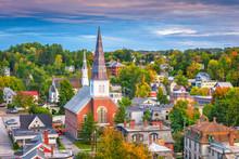 Montpelier, Vermont, USA Town ...