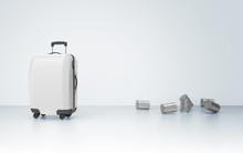 Suitcase With Jars, Honeymoon Concept