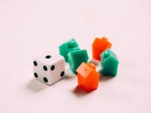 Classic Business Monopoly Board Game With Dices And Field