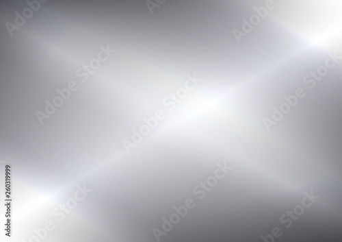 Abstract silver background and foil texture, shiny and metal steel gradient template, vector illustration