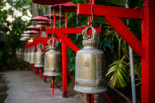 Bells In A Buddhist Asian Temple