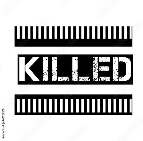 Valokuva  KILLED stamp on white