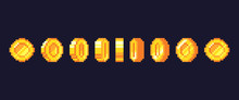 Pixel Game Coins Animation. Go...