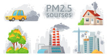 Air Pollution Source. PM 2.5 D...