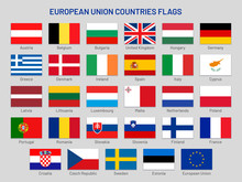 European Union Countries Flags...