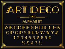 Art Deco Font. Golden 1920s De...