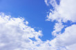 Beautiful white fluffy clouds in the blue sky day, cloud day. It best for background, abstract or blur.