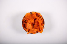 Pumpkin Chips Lying On The Table