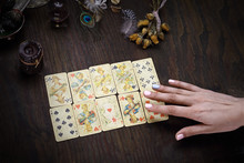 Divination Cards. The Fairy Spreads The Cards. The Clairvoy Arranges Solitaire.