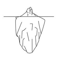 Sketch Of Iceberg. Vector Illustration.