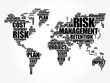 Risk Management word cloud in shape of World Map, business concept background