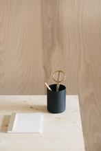 Minimal Plywood Desk Setup