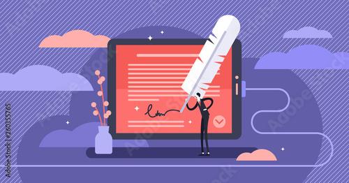 Foto Electronic signature vector illustration
