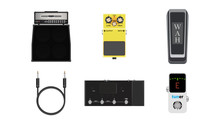 Music Instruments Icon, Amplifier, Signal Cable Jack,  Pick And Effect Pedal, Realistic Vector Illustration