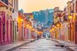 Beautiful streets and colorful facades of San Cristobal de las Casas in Chiapas, Mexico