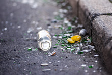 Broken Bottle And Garbage By T...