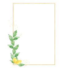Watercolor Greenery Lemon Fram...
