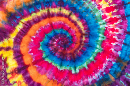 Photo Bright Colorful Abstract Psychedelic Tie Dye Swirl Design Pattern