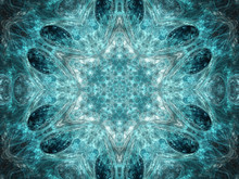 Abstract Fractal Snowflake, Digital Artwork For Creative Graphic