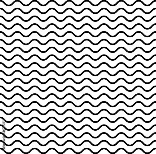 Fotografie, Obraz  Vector pattern with waves.