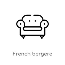 Outline French Bergere Vector ...