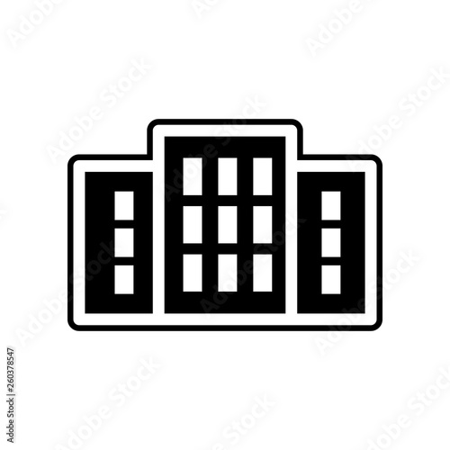 hospital icon  Element of Buildings for mobile concept and