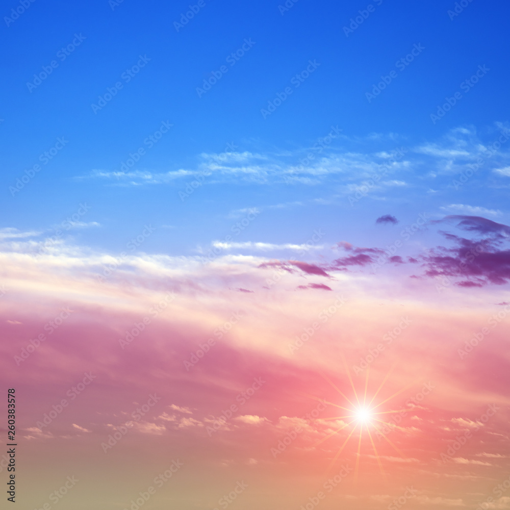 Fototapety, obrazy: Sky sunrise air clouds panorama