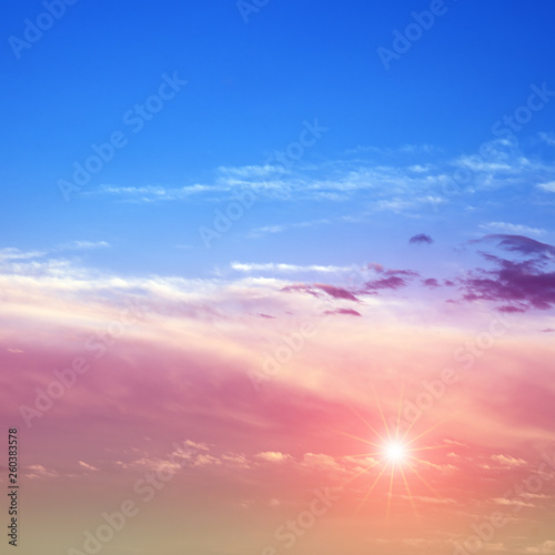 Poster de jardin Morning Glory Sky sunrise air clouds panorama