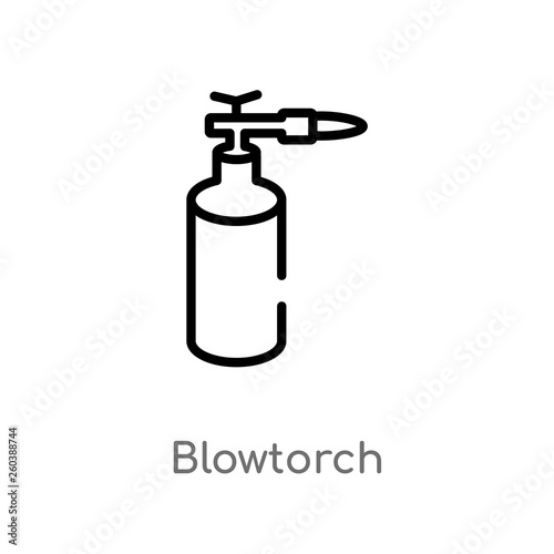 Photo outline blowtorch vector icon