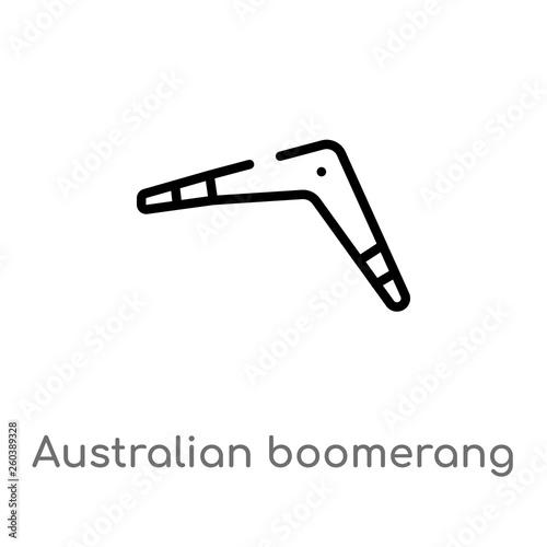 Photo outline australian boomerang vector icon
