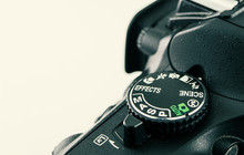 DSLR Camera Dial Close-up. Tha...