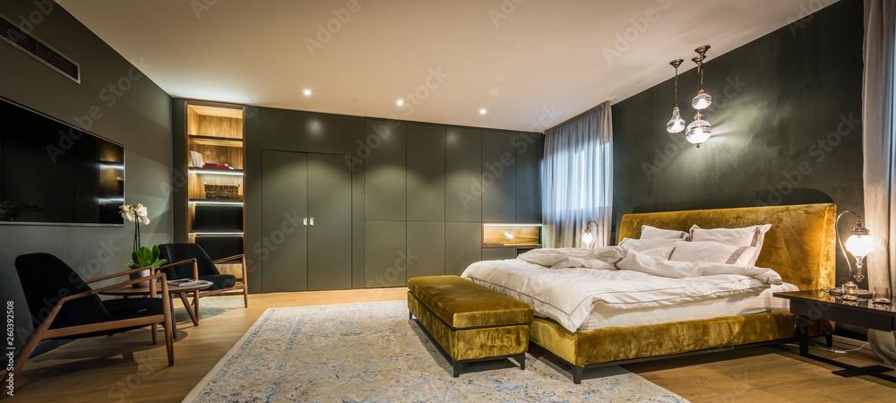 Fototapeta Master bedroom interior in luxury apartment