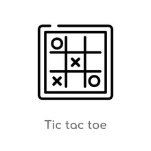 Outline Tic Tac Toe Vector Ico...