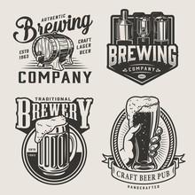 Monochrome Brewery Vintage Emb...