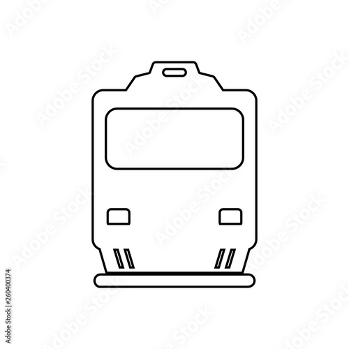 train front view icon  Element of transport for mobile