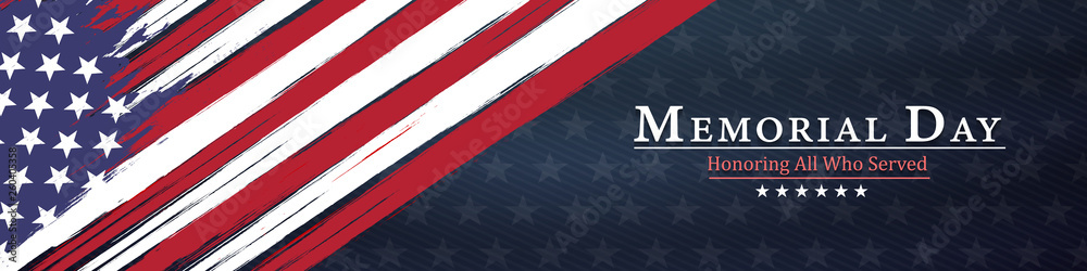 Fototapety, obrazy: memorial day  background,united states flag, with respect honor and gratitude posters, modern design vector illustration