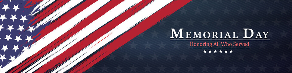 memorial day  background,united states flag, with respect honor and gratitude posters, modern design vector illustration