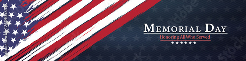 memorial day  background,united states flag, with respect honor and gratitude po Canvas-taulu