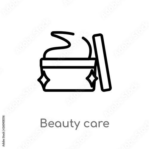 Fotografie, Obraz  outline beauty care vector icon