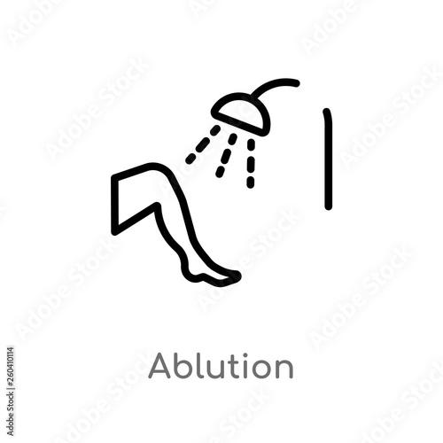 Fotografija outline ablution vector icon
