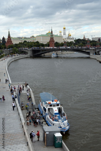 Photo Pleasure boat Alina tango at the pier Patriarch on the Prechistenskaya emba