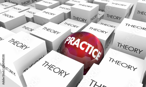 Theory Vs Practice Idea Application Real World 3d Illustration Canvas Print