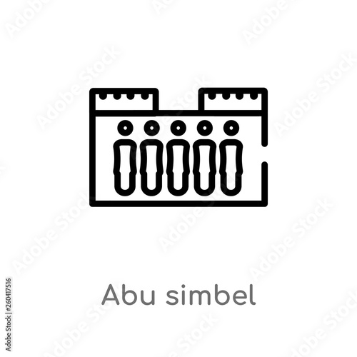 Fotografia, Obraz  outline abu simbel vector icon
