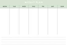 Printable A4 Basic Weekly Planner (Live Stroke Path)