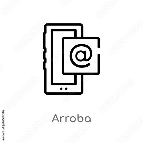 outline arroba vector icon Canvas Print